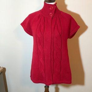 Kasper Red Sweater. Size Petite Medium